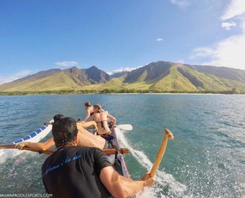 hawaiian canoe surfing