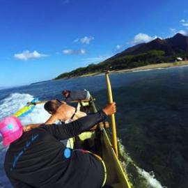 Maui Surfing Canoe Lean