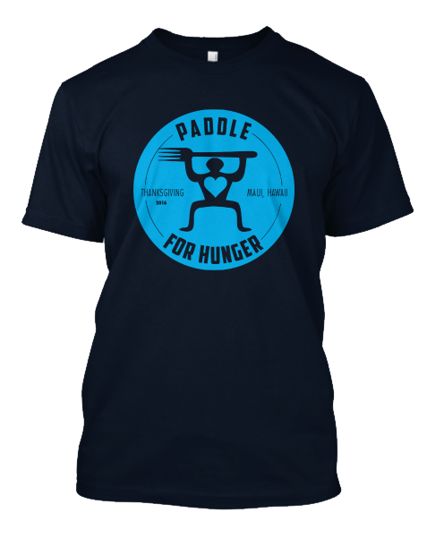 paddle for hunger t-shirt