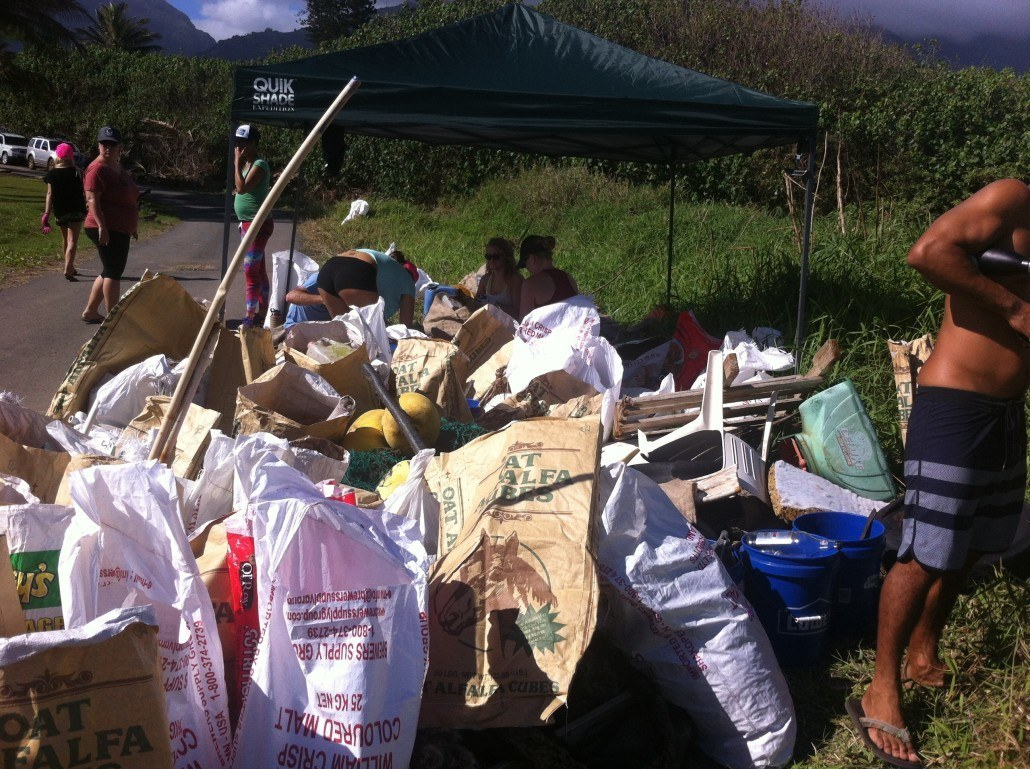 Over 100 pounds of rubbish collected during Kaehu beach cleanup