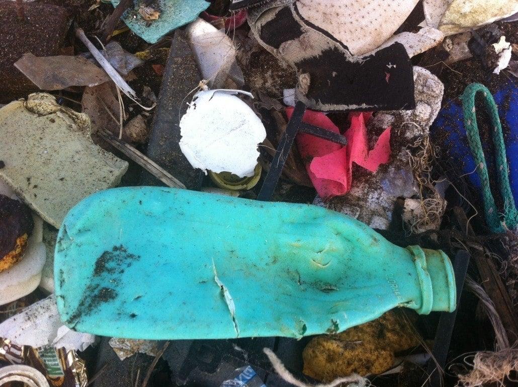 Plastic pollution removed Ka'ehu Beach