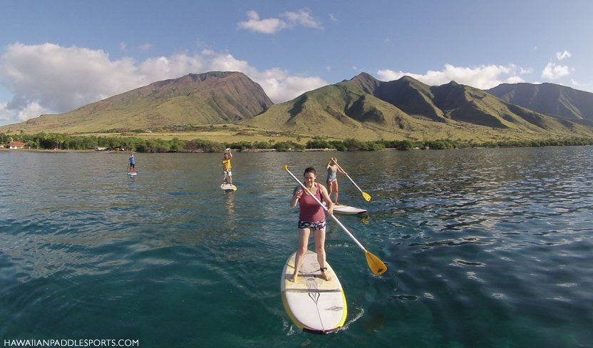 Surfing on a Stand Up Paddleboard