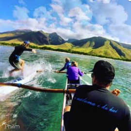 Surfing The Outrigger Canoe